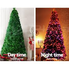 Christmas Tree With Optical Fiber Lights - 2 4m 8ft led christmas tree xmas tree multi colour lights optic