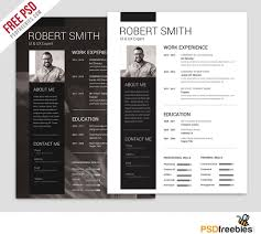 simple and clean resume free psd template psdfreebies com