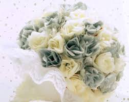 Silk Wedding Bouquet Wedding Bouquets U0026 Corsages Etsy Uk