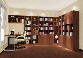 home design bedroom 3d study room with warm nuance and wooden