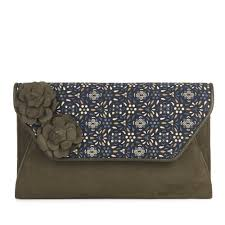 Shoo Olive ruby shoo olive clutch bag