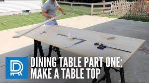 Build A Wooden Table Top by How To Build A Dining Table Part One Make A Table Top Youtube