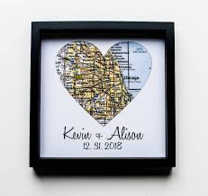 housewarming gift new home gift map art framed first home gift