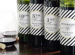 Anniversary Wine Bottles Shower Gift Wedding Anniversary Wine Bottle Labels Ss Sweet