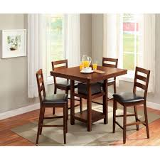 counter height dining room sets acme mira 3 piece pack counter height set birch u0026 black walmart com