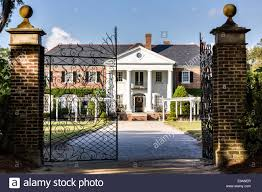 Colonial Revival Homes by Wrought Iron Gate House South Stock Photos U0026 Wrought Iron Gate