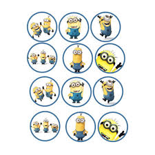 minions cake toppers minion edible image cupcake toppers shore cake supply