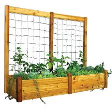 raised garden bed trellis kit at jackson and perkins