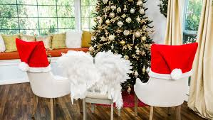 chair covers how to diy christmas chair covers hallmark channel
