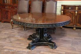 antique reproduction 60 inch round walnut finished table with