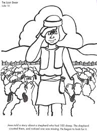 bible coloring pages lost sheep