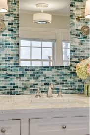 tile bathroom walls ideas best 25 glass tile bathroom ideas on blue glass tile