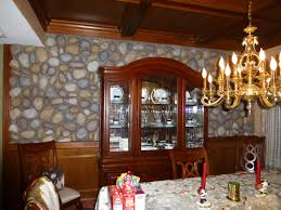 dining room makeovers dining room makeover with river rock creative faux panels
