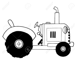 black and white farm tractor royalty free cliparts vectors and