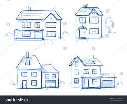 set different houses detached single family stock vector 410936260