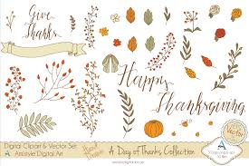 thanksgiving graphics new item a day of thanks collection clipart u0026 vector set