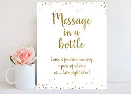 bridal shower sign in book wedding guest book sign message in a bottle bridal shower