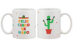 com funny ceramic coffee mug with bold statement feliz cinco