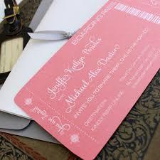 Boarding Pass Wedding Invitation Card Modern Boarding Pass Wedding Invitation White Ink And Coral