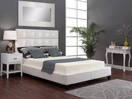 bedroom grey paint wall with side table in white also types of