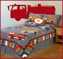 Fire Truck Boys Bedroom Fire Truck Themed Bedroom I Painted The - Firefighter kids room