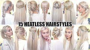 heatless hair styles cute hairstyles lovely cute hairstyles for 15 year olds cute