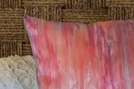 coral pillow watercolor silk pillow pillow covers 18x18 bohemian
