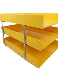 Yellow Desk Organizer Vintage Steelcase Office Chair 125 Chicago Http Furnishly Com