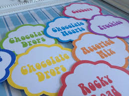 Candy Labels For Candy Buffet by 31 Best Candy Buffet Labels Images On Pinterest Candy Buffet