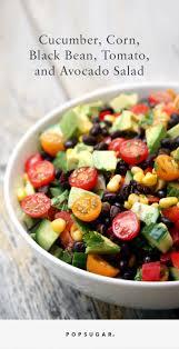 Garden Vegetable Salad by Cucumber Black Bean Corn Tomato And Avocado Salad Popsugar