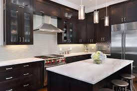 espresso cabinets with granite kitchen traditional with butlers