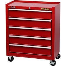 stanley 10 drawer rolling tool cabinet stanley 5 drawer cabinet red walmart com