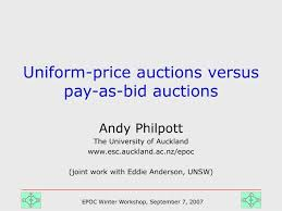 pay to bid auction ppt price auctions versus pay as bid auctions powerpoint