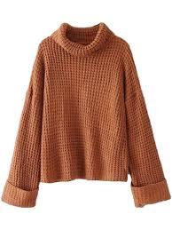 turtle neck sweaters retta cognac ribbed turtleneck sweater