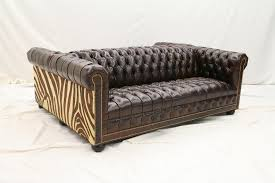 end furniture tufted double sided leather sofa