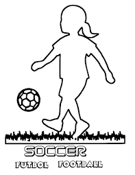 silhouette playing soccer coloring
