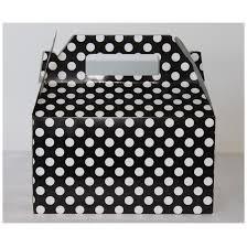 polka dot boxes black white polka dot gable treat boxes 6 party owl theme