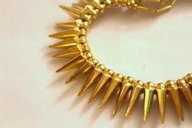 gold necklace patterns images Diy gold spike necklace tutorial neon rattail JPG