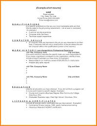Resume Executive Summary Examples Jospar by Brief Resume Example Examples Of Resumes