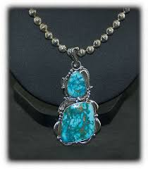 blue turquoise pendant necklace images Blue turquoise necklace durango silver co jpg