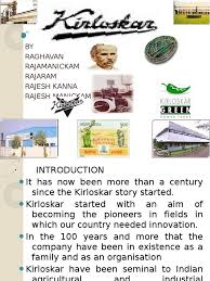 kirloskar energy and resource agriculture