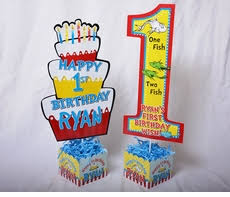 dr seuss centerpieces thing 1 thing 2 dr seuss party