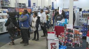 shoppers hit the stores on thanksgiving