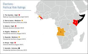 Gambia Africa Map by Odinga Claims Votes Were Rigged For President Kenyatta To Win