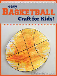 basketball craft for kids fun and easy balls pinterest