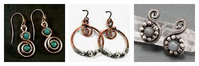 beginner earrings 14 free wire jewelry patterns for beginners