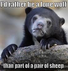 Lone Wolf Meme - lone wolf no pairing quickmeme