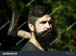 one handsome strong stylish male logger stock photo 330037370