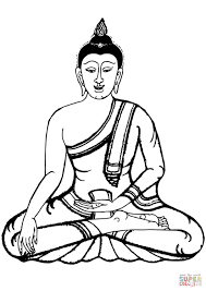 buddha coloring page free printable coloring pages
