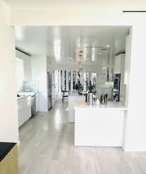 All White Kitchens by Simple Modern White Kitchen Marble Slab Backsplash Super Clutter